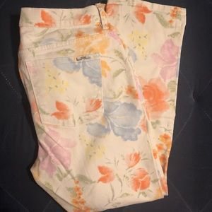 Ralph Lauren Watercolor Pastel Floral Jeans